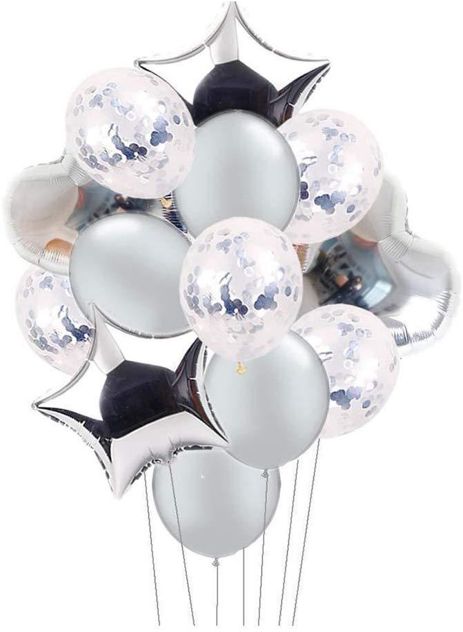 decoracion para bodas de plata con globos