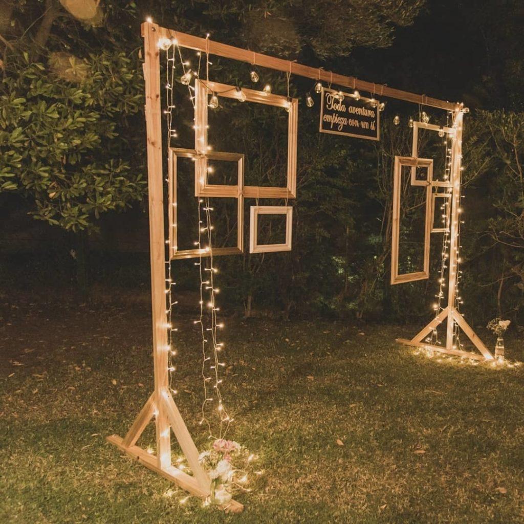 photocall boda jardin